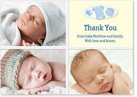 Boys Thank You Card - Three Photos
