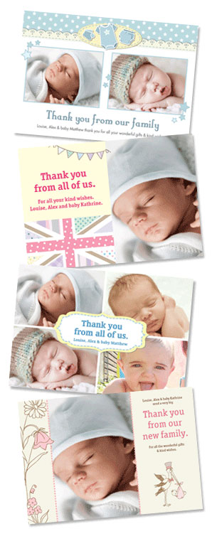 Some examples of thank you wording for baby gifts