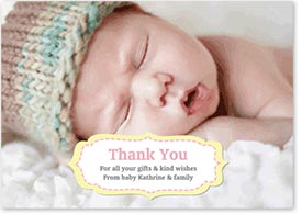 Girls Thank You Card - Large Photo & Plaque