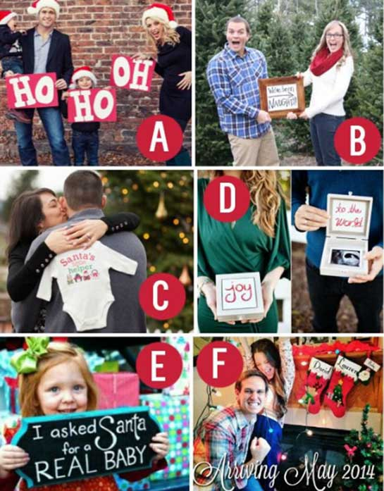 Xmas themed pregnancy announcements